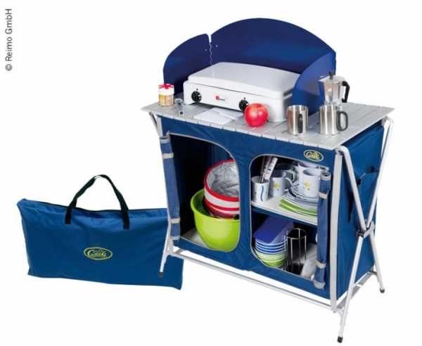 Campingküche Cuccinella Quick blau