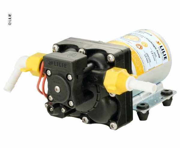 LILIE Soft Serie Pumpe WeißGELB mit Bypass-Steuerung 2,1 bar, 11,3l/min