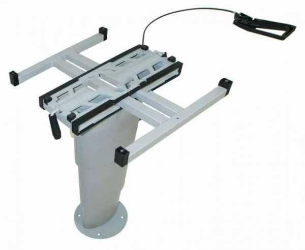 Einsäulen-Hubtisch Primero Comfort, 345-705mm, silbergrau
