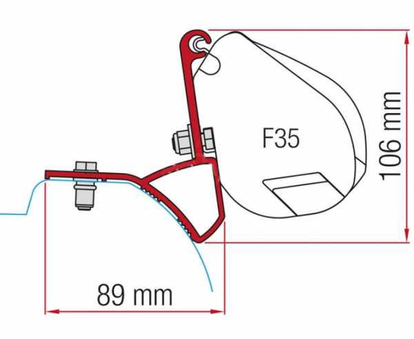 Fiamma F35 Adapter für Opel Vivaro