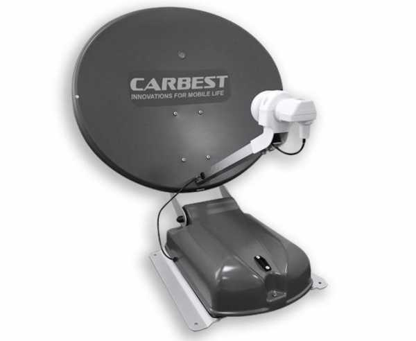 Carbest Antenne 60 DUO anthrazit, 60cm,2 Satelliten+LCD Display