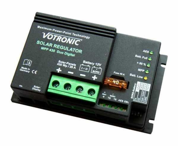 MPPT Laderegler -lackiert- MPP 430 Duo Digital 12V
