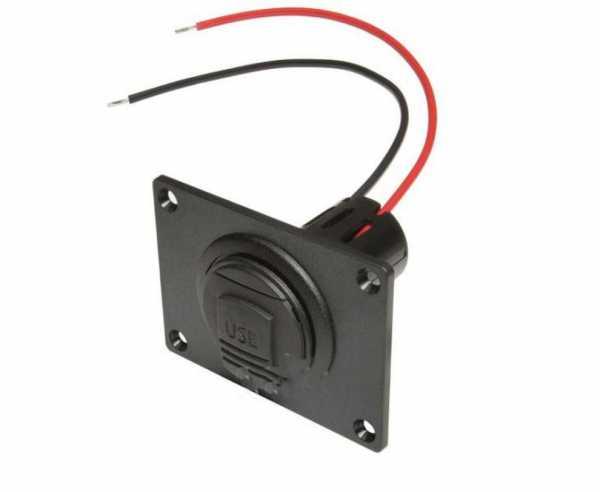 USB-Einbaudose 12-24/5V mit USB 3A