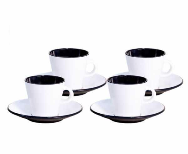 Melamin Espressotassen-Set LINEA, 4-teilig