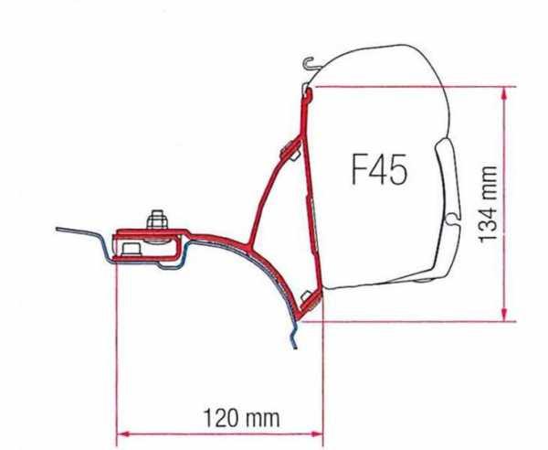 Fiamma F45 Adapter VW T5/6