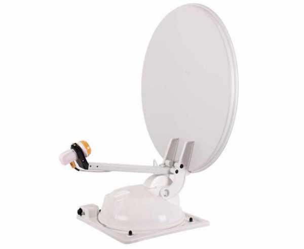 Mc Camping Antenne 65 weiß, 65cm, 2 Satelliten
