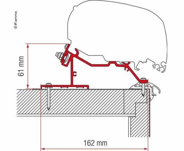 Wohnwagen-Adapter Markise F65L und F80S Caravan Roof 500cm