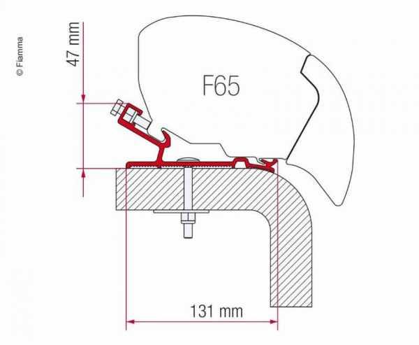 Markisen-Adapter Hymer F65S