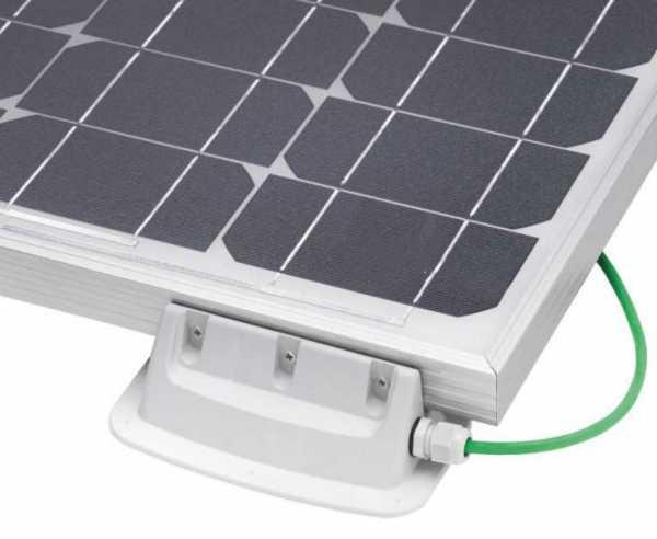 Halteset Solar 4er Set mit integrierter Dachdurchführung, grau