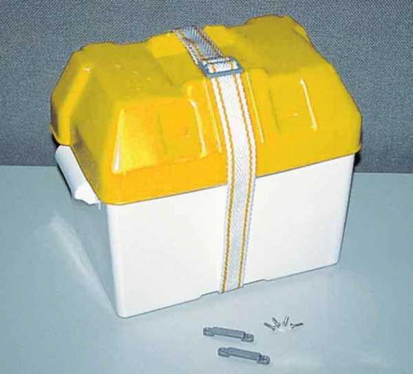 Batteriekasten 20x41x20cm Deckel gelb
